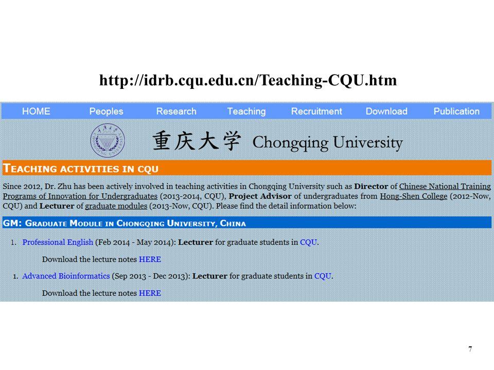 7 http://idrb.cqu.edu.cn/Teaching-CQU.htm