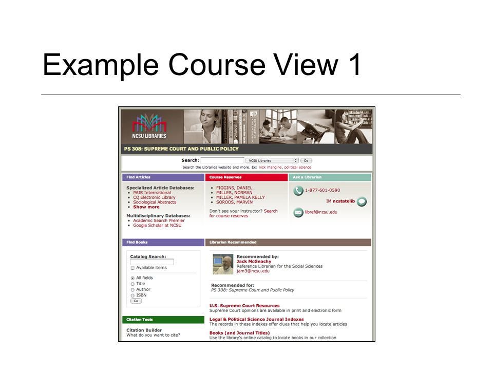 Example Course View 1