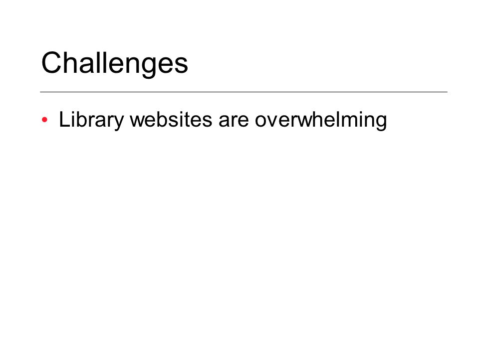 Library websites are overwhelming