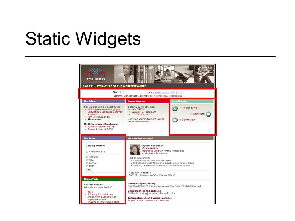 Static Widgets