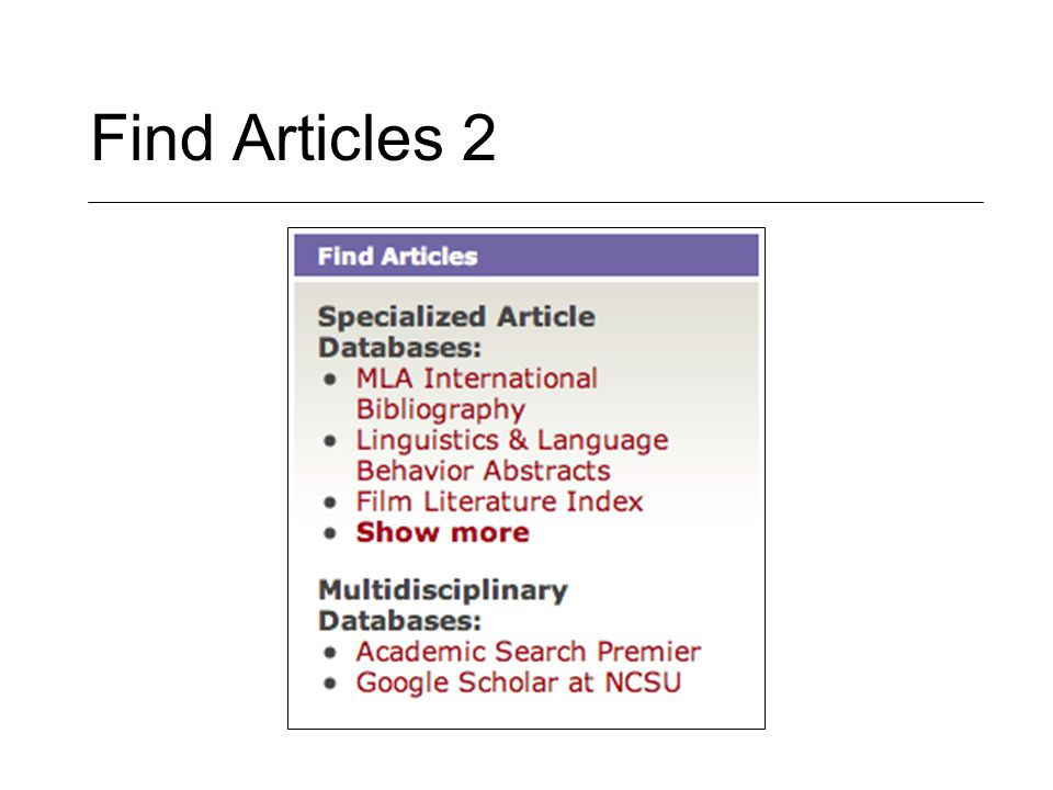 Find Articles 2