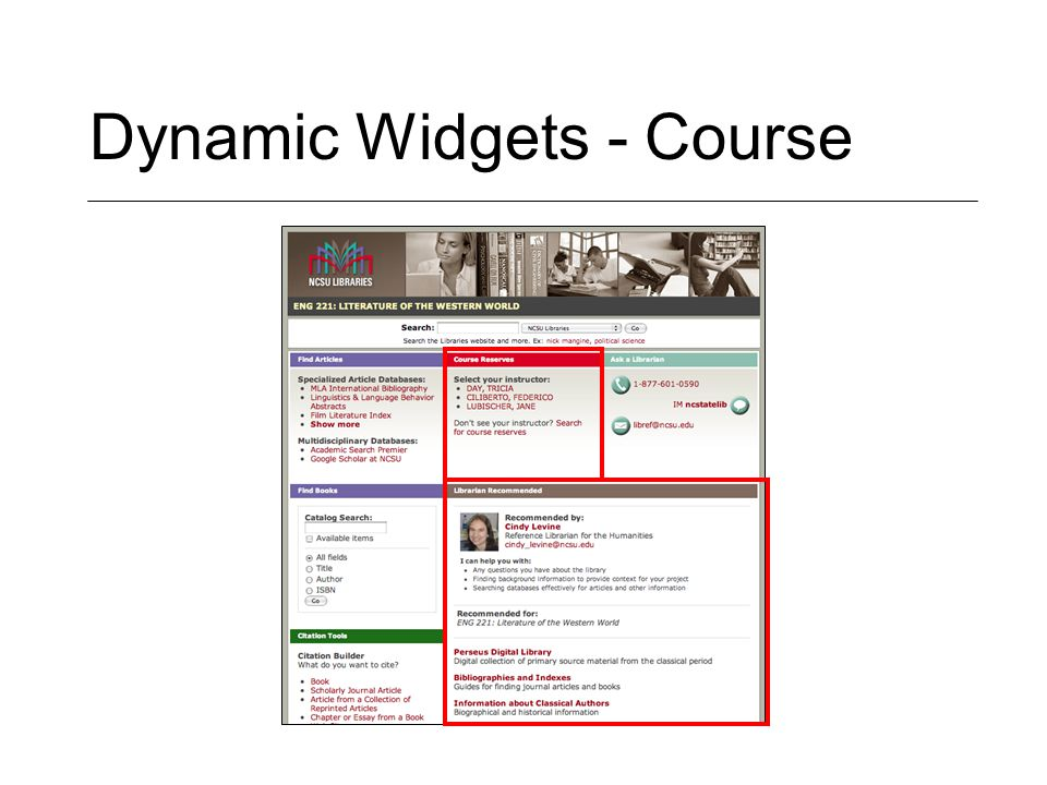 Dynamic Widgets - Course