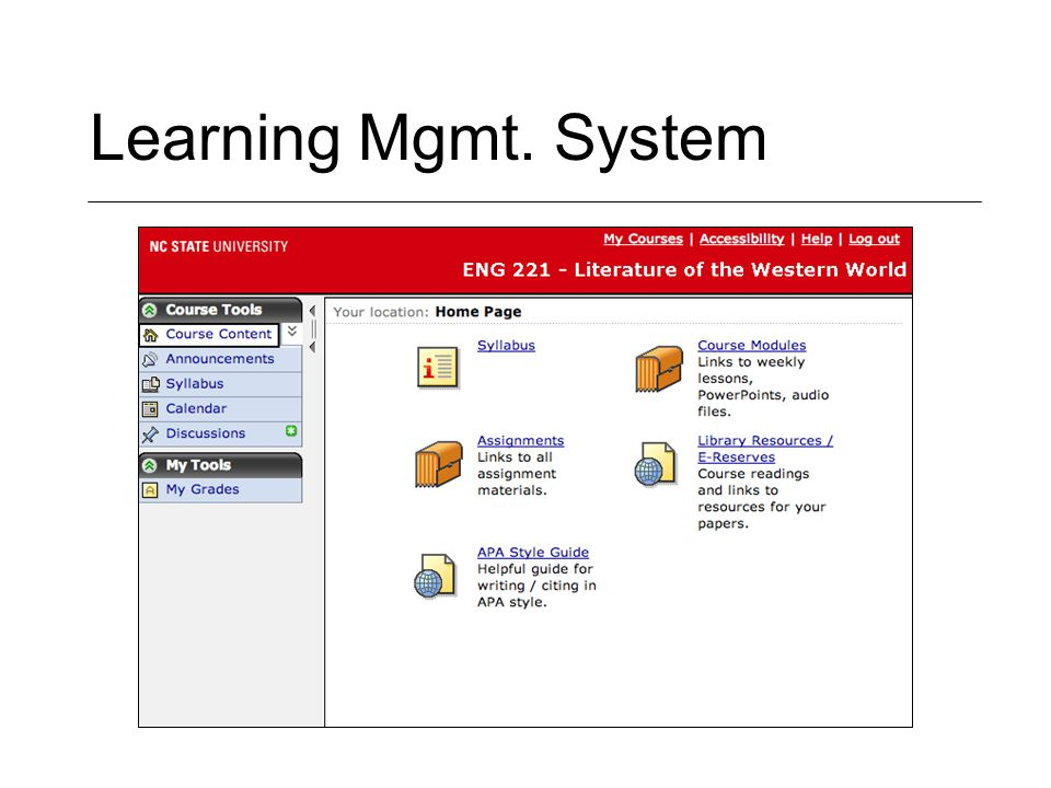 Learning Mgmt. System