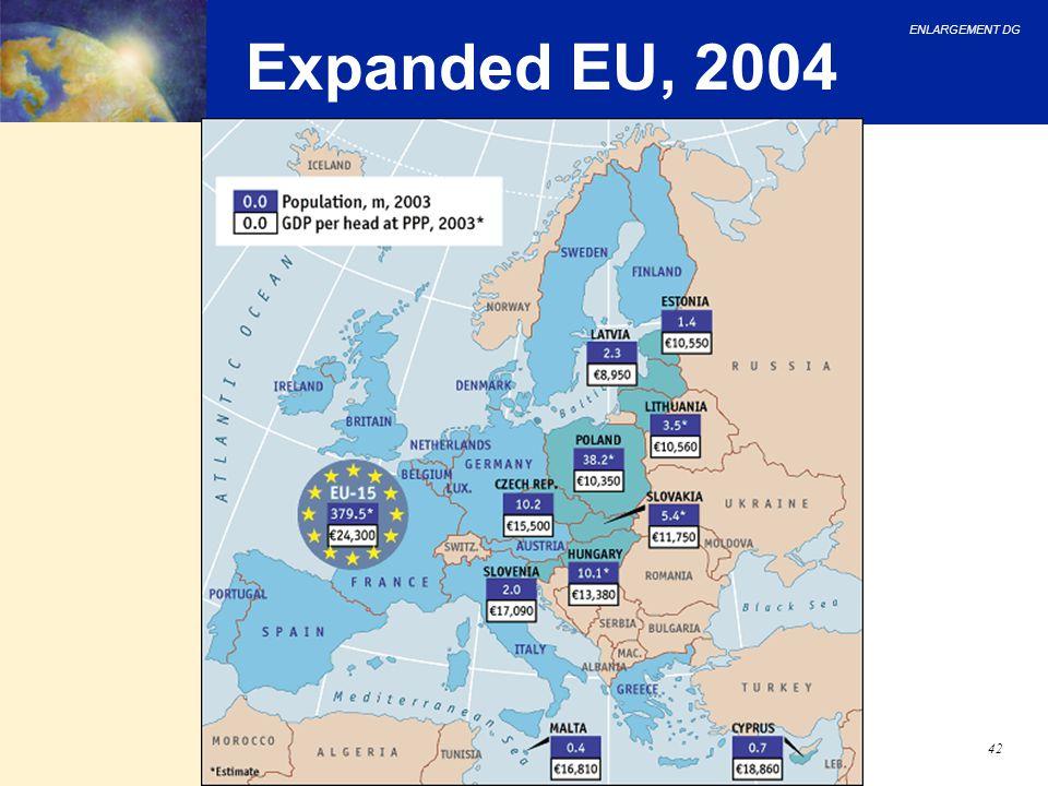 ENLARGEMENT DG 42 Expanded EU, 2004