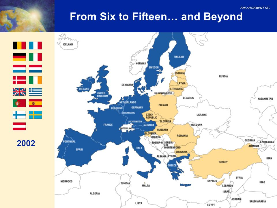 ENLARGEMENT DG 8 From Six to Fifteen… and Beyond 2002