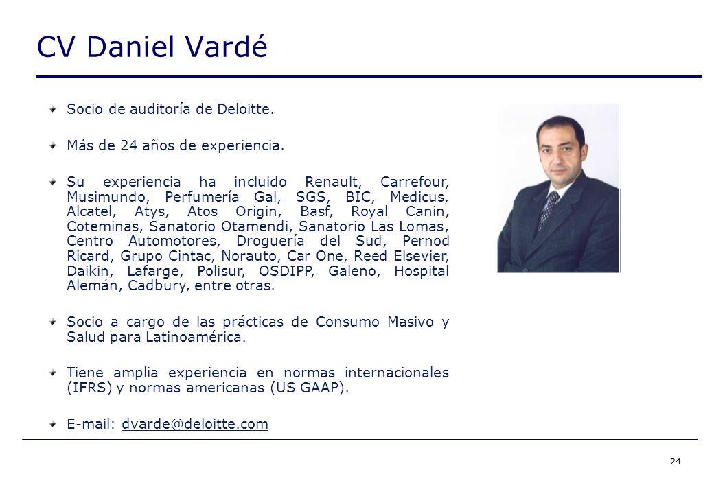 24 CV Daniel Vardé Socio de auditoría de Deloitte.