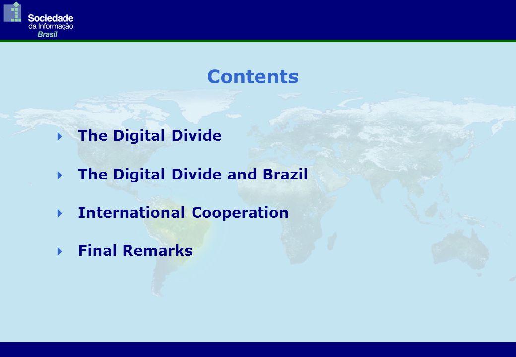 The Digital Divide  The Digital Divide and Brazil  International Cooperation  Final Remarks Contents