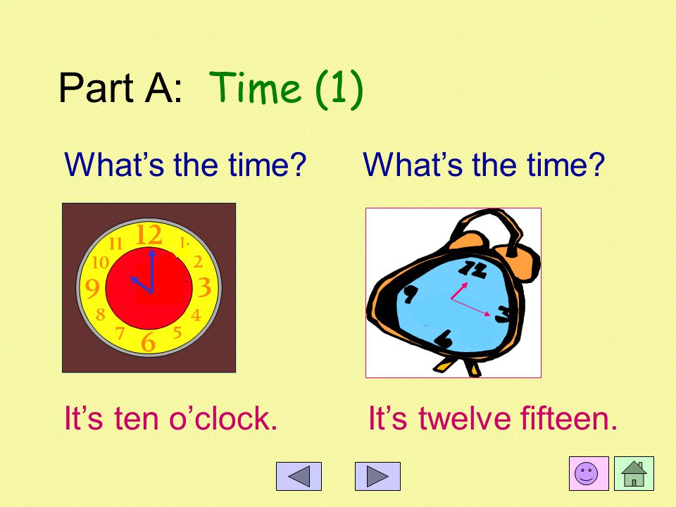 What's the time Part B Right or Wrong Part A Time Part C Exercises