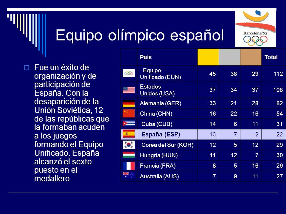Equipo olímpico español  Fue un éxito de organización y de participación de España.