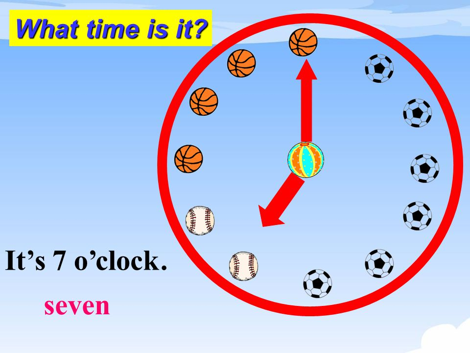 It's 7 o'.clock seven What time is it?