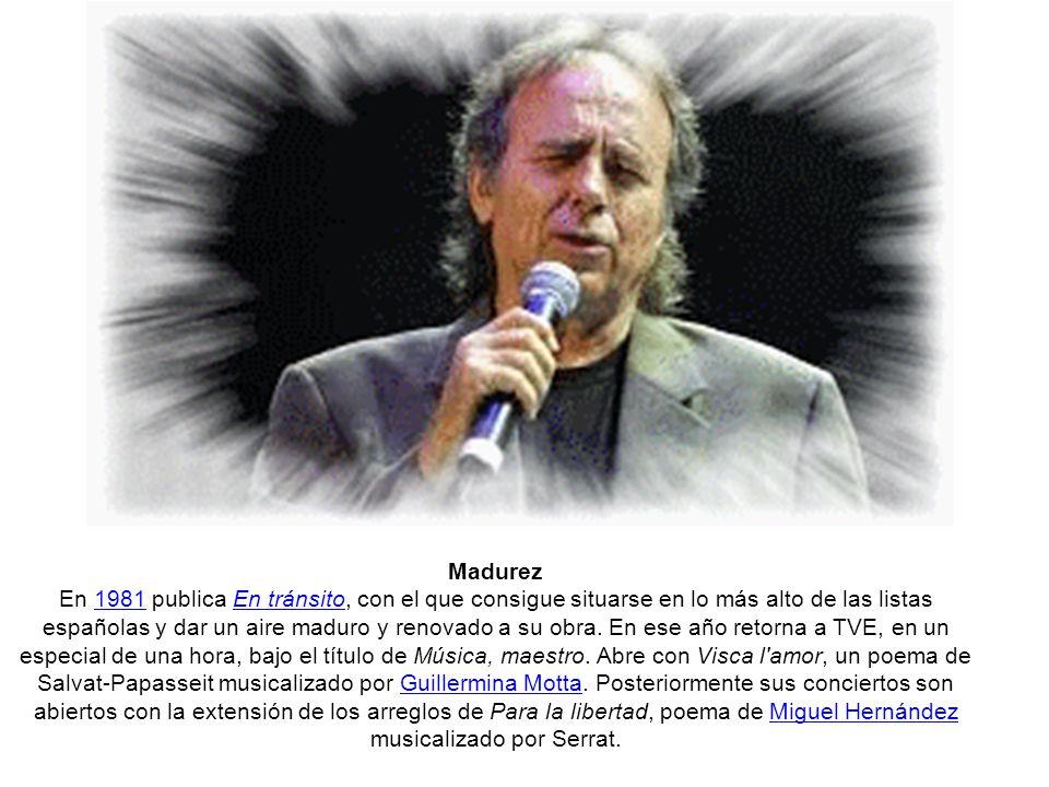Serrat en la España democrática En 1977 publica el disco-homenaje al poeta catalán Joan Salvat-Papasseit titulado Res no és mesquí (Nada es mezquino), con arreglos del músico Josep Maria Bardagí.