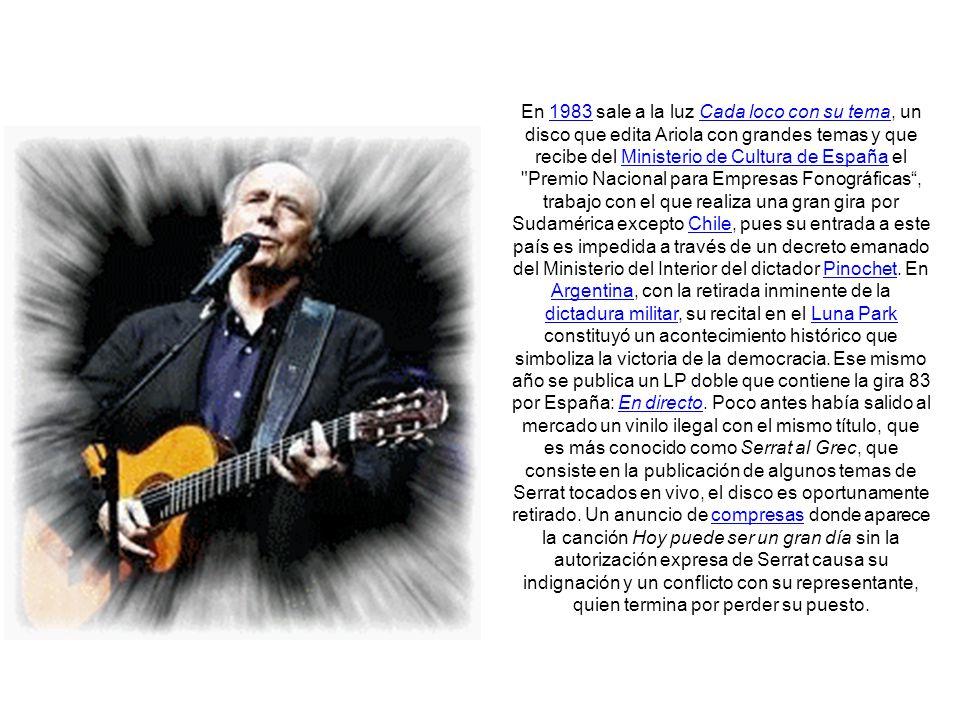 Madurez En 1981 publica En tránsito, con el que consigue situarse en lo más alto de las listas españolas y dar un aire maduro y renovado a su obra.