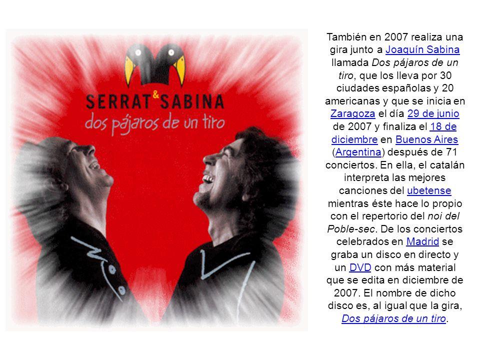 En 2007 es galardonado con la Medalla de Honor del Parlamento de Cataluña en reconocimiento por su labor en defensa de la lengua y la cultura catalana como miembro en los años 60 de Els Setze Jutges y como Caballero de la Legión de Honor de la República Francesa.2007Parlamento de Cataluñaaños 60Els Setze JutgesLegión de HonorRepública Francesa