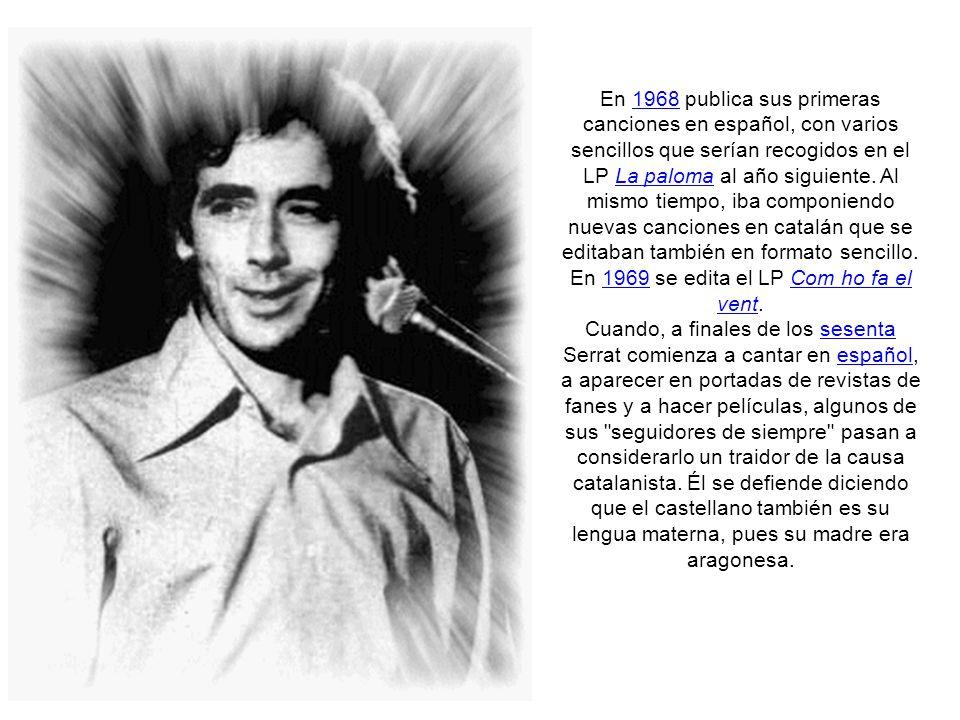El músico Francesc Burrull colabora con Joan Manuel Serrat desde 1967 firmando los arreglos del EP Cançó de matinada, donde además del tema homónimo figuran Me n vaig a peu, Paraules d amor y Les sabates.