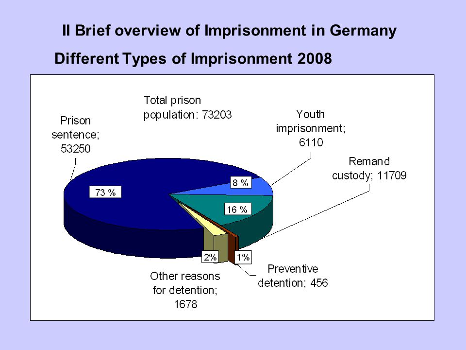 II Brief overview of Imprisonment in Germany Different Types of Imprisonment 2008