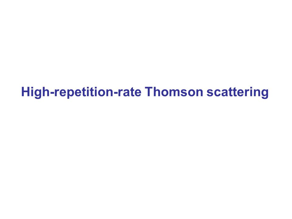 High-repetition-rate Thomson scattering