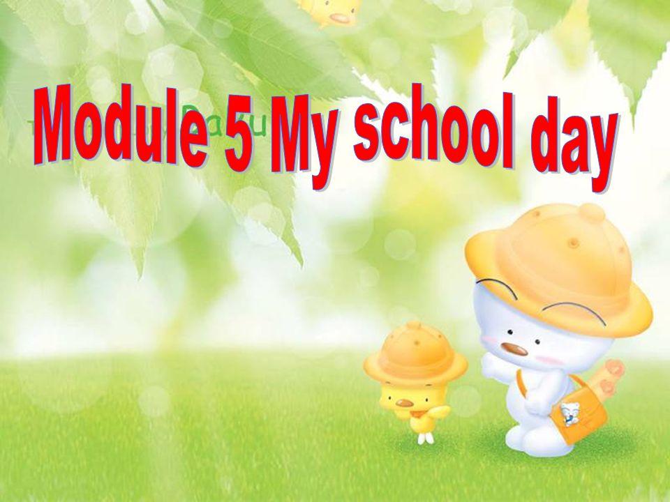 7:30 科学 8:20 语文 9:20 数学 10:10 英语 13:10 社会 14:05 信息 15:00 美术 15:50 体锻 On Thursday, we have eight classes.