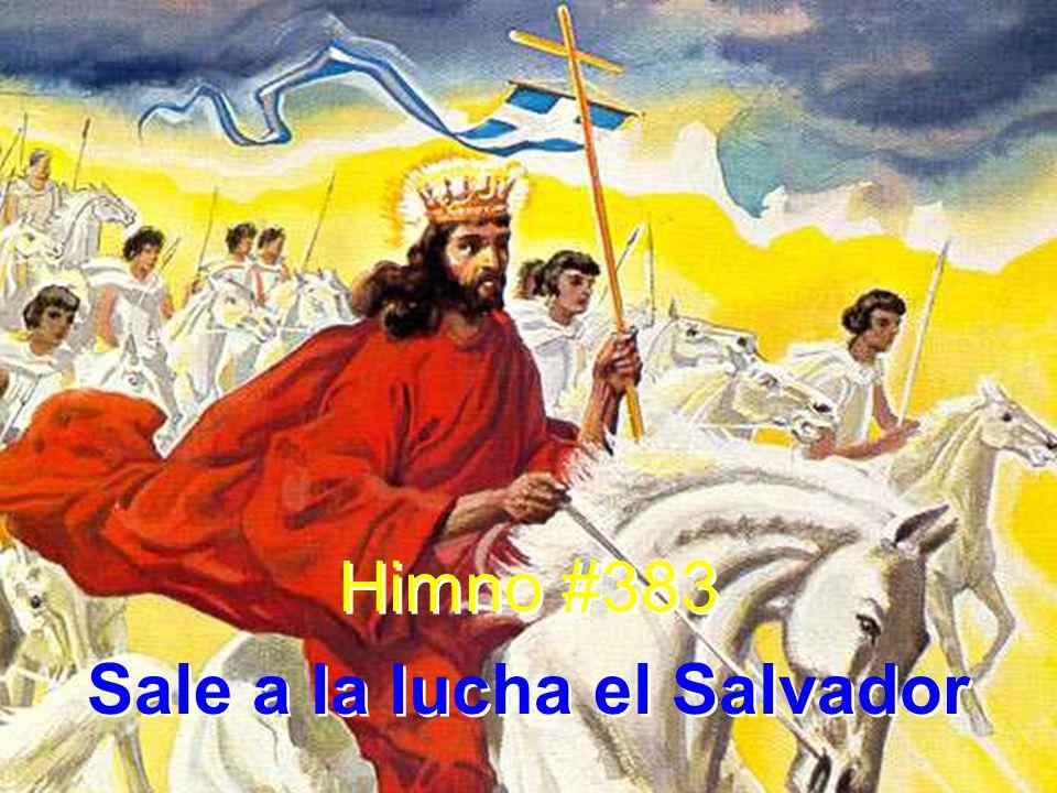 1 Sale a la lucha el Salvador corona a conquistar; su insignia luce por doquier, flameante al frente va.