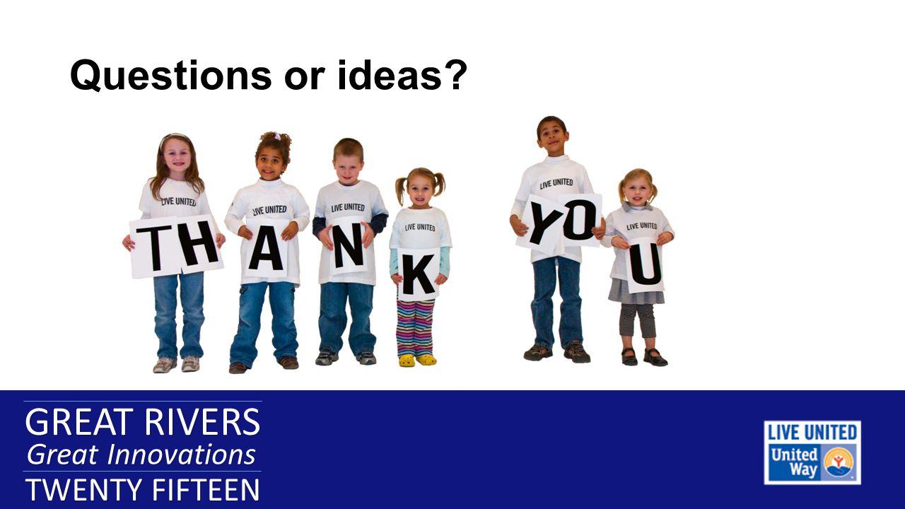 GREAT RIVERS Great Innovations TWENTY FIFTEEN GREAT RIVERS Great Innovations TWENTY FIFTEEN Questions or ideas