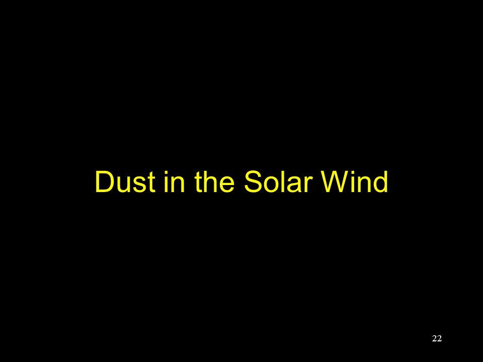 Dust in the Solar Wind 22