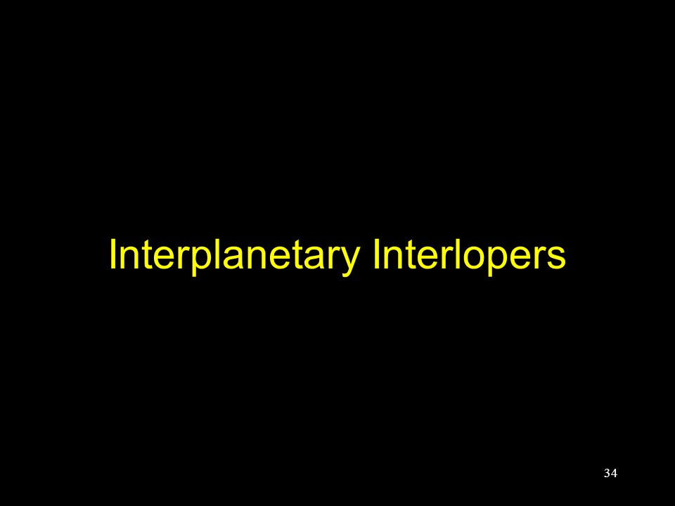 Interplanetary Interlopers 34