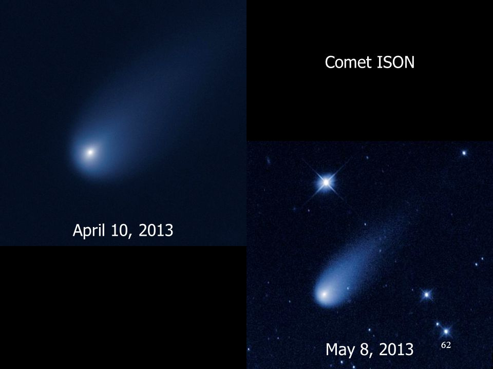 April 10, 2013 May 8, 2013 Comet ISON 62