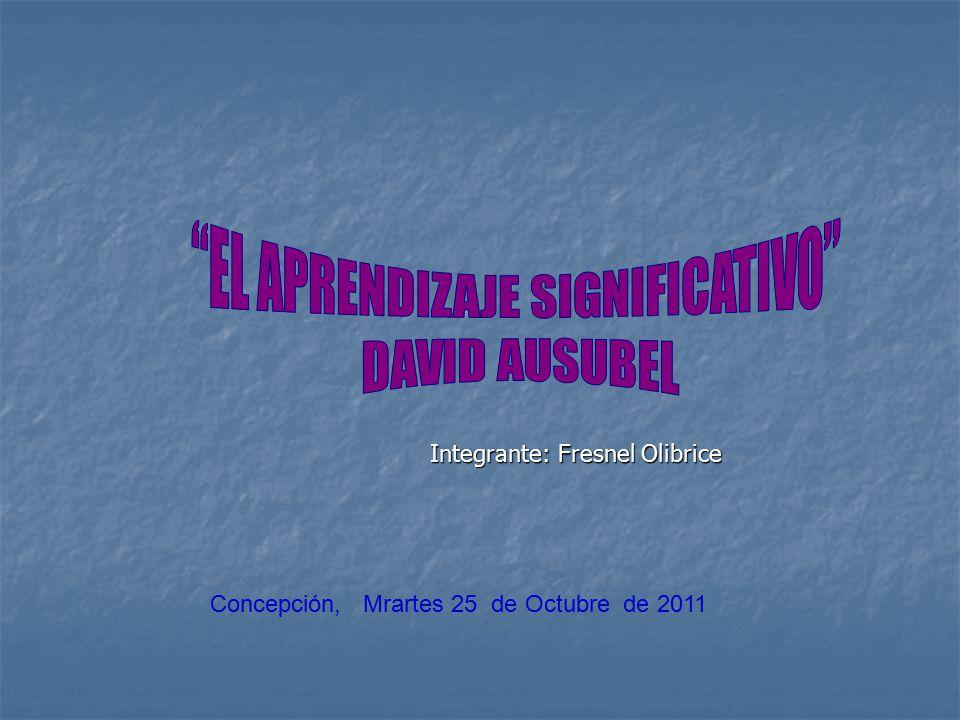 Integrante: Fresnel Olibrice Concepción, Mrartes 25 de Octubre de 2011