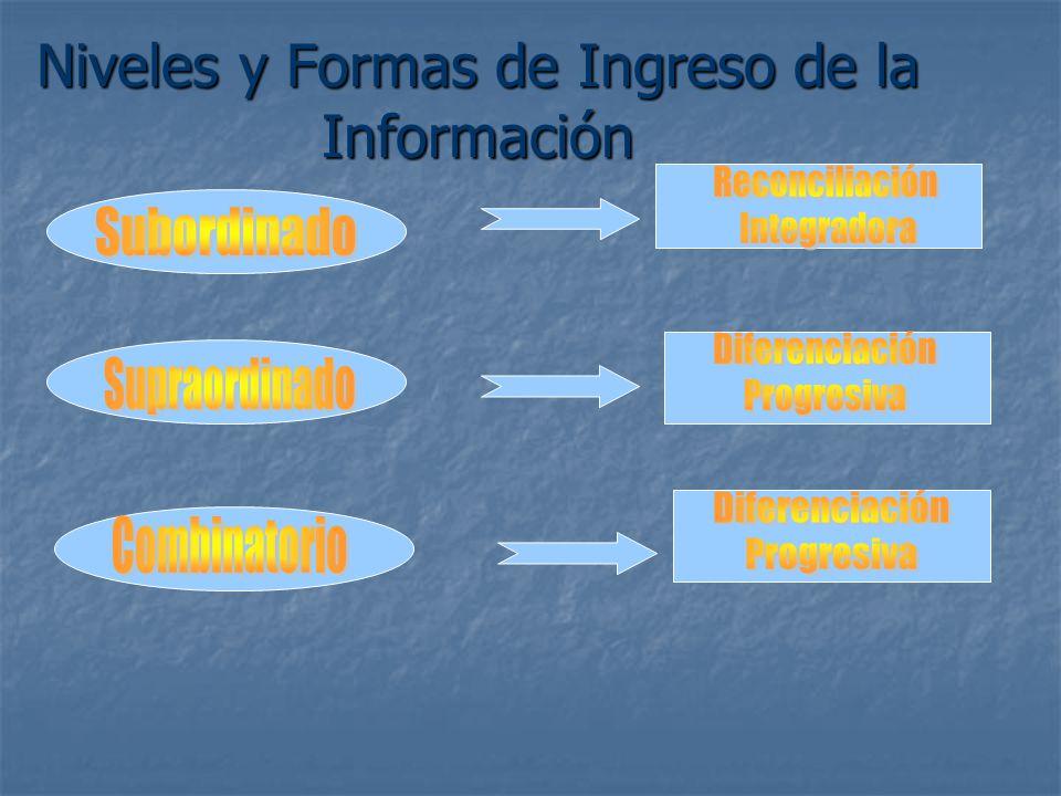 Niveles y Formas de Ingreso de la Información
