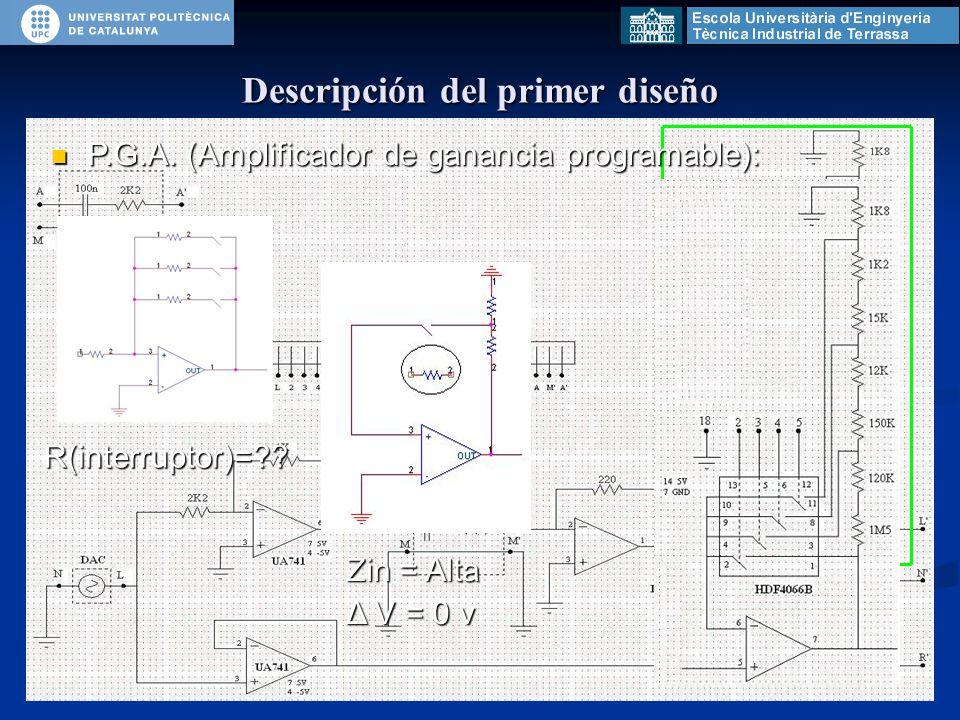 P.G.A. (Amplificador de ganancia programable): P.G.A.