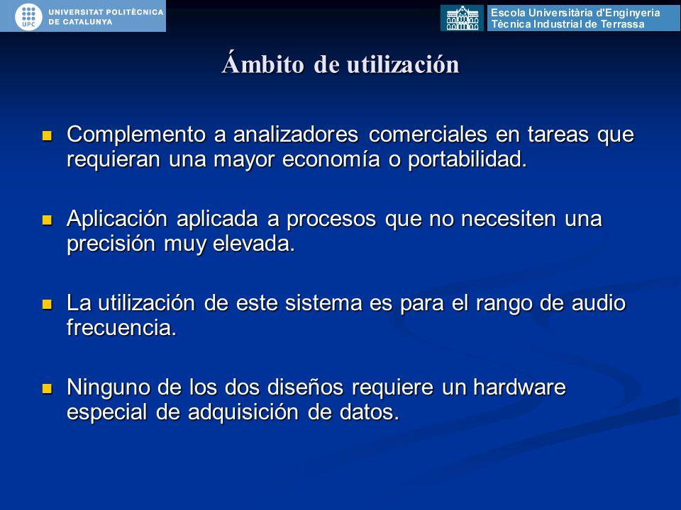 Complemento a analizadores comerciales en tareas que requieran una mayor economía o portabilidad.