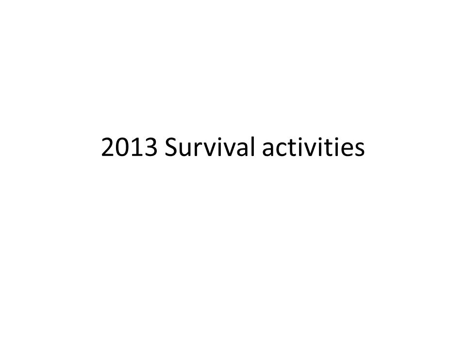 2013 Survival activities