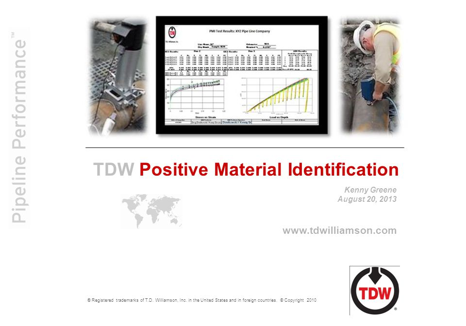 2 Positive Material Identification Process This Non-Destructive Evaluation (NDE) process consists of the following:  Ultrasonic Thickness Testing (UTT)  AUT B-scanner (C-Scan display)  Automated Ball Indention (ABI)  Optical Emissions Spectrometry (OES)  Magnetic Particle Testing (MT) These five NDE methods make up the PMI process.