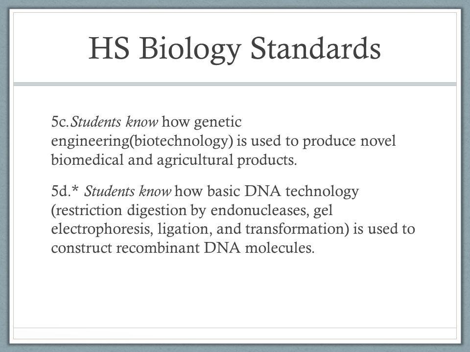 HS Biology Standards 5c.