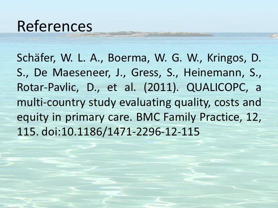 References Schäfer, W. L. A., Boerma, W. G. W., Kringos, D.