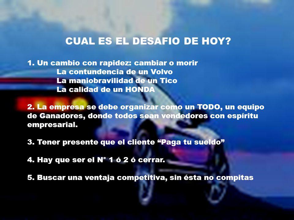 CUAL ES EL DESAFIO DE HOY. 1.