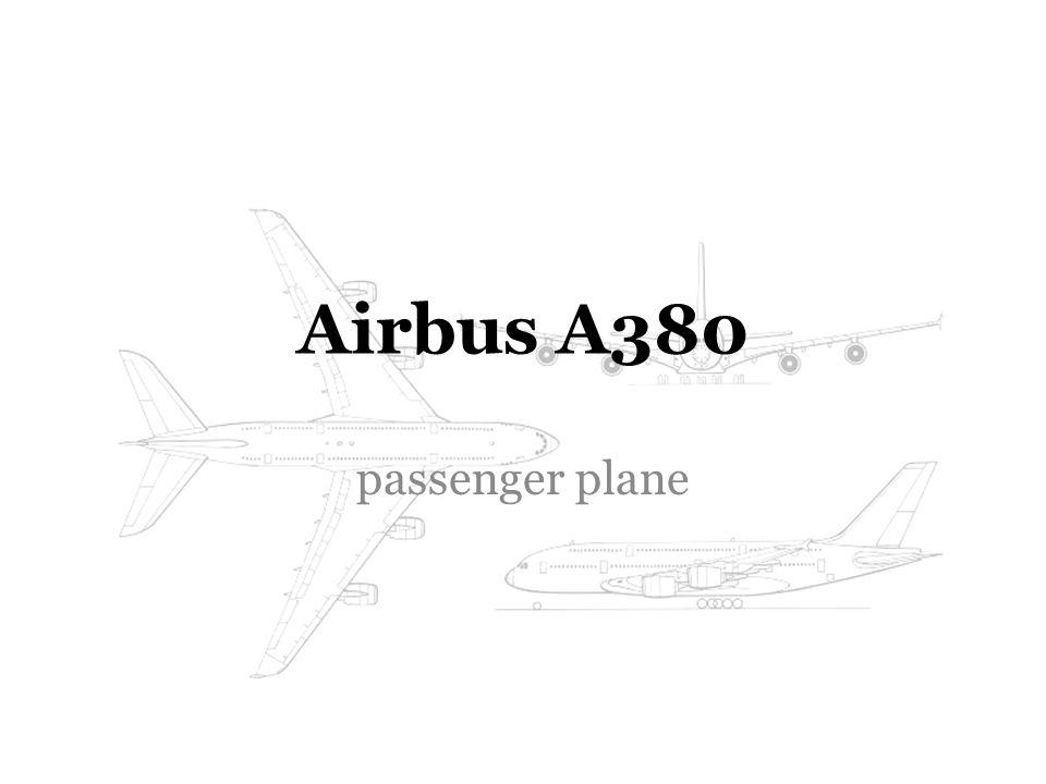 Airbus A380 passenger plane