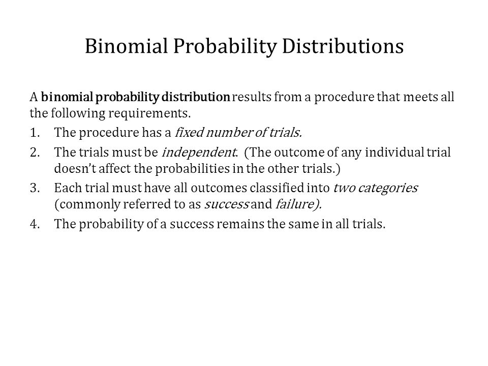 Binomial Probability Distributions Determine whether the given procedure results in a binomial distribution.