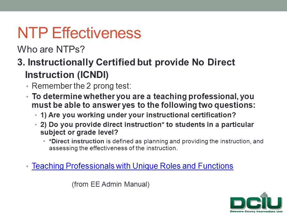 NTP Effectiveness Who are NTPs. 3.