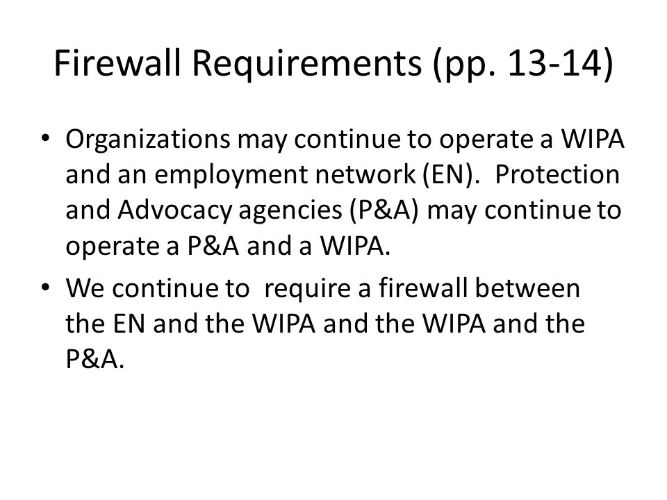 Firewall Requirements (pp.