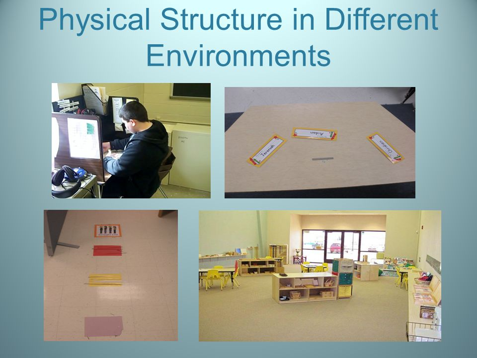 Physical Structure in Different Environments