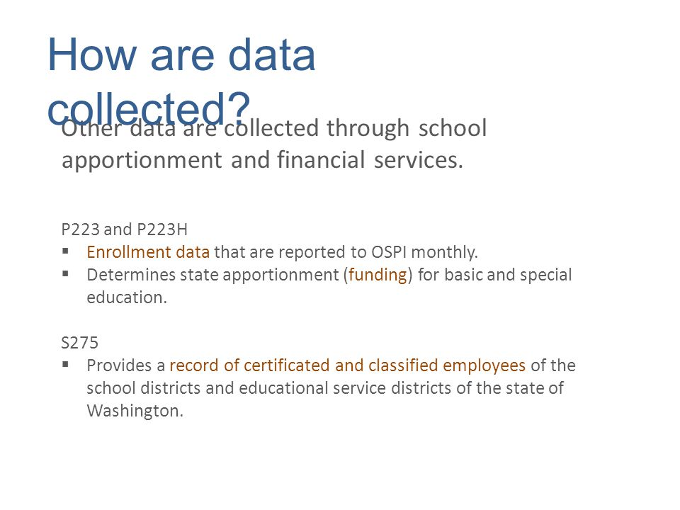 Some data are used to populate applications in the Education Data System (EDS).