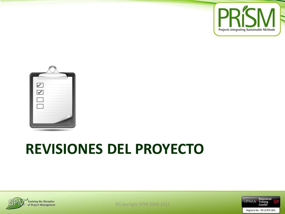 REVISIONES DEL PROYECTO ©Copyright GPM 2009-201346