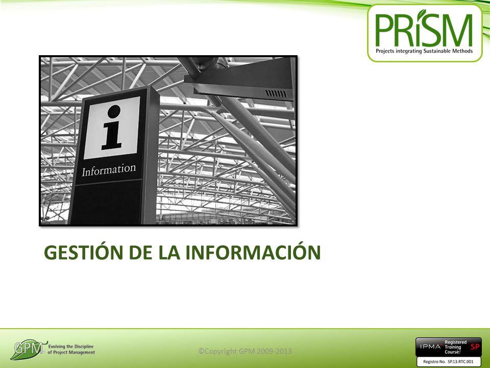 GESTIÓN DE LA INFORMACIÓN ©Copyright GPM 2009-20139