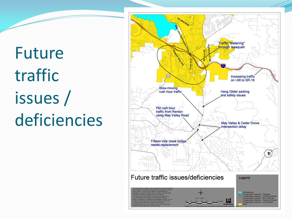 Future traffic issues / deficiencies