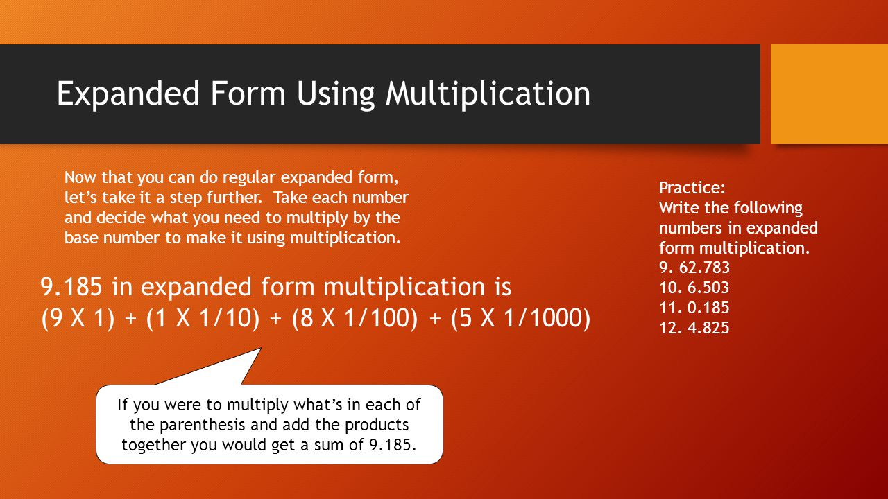 Expanded Form Using Multiplication Answers 9.