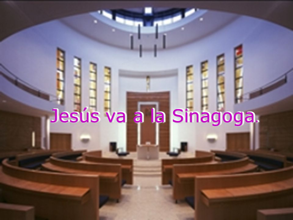Cuando salió de la sinagoga se fue con Santiago y Juan a casa de Simón y Andrés.