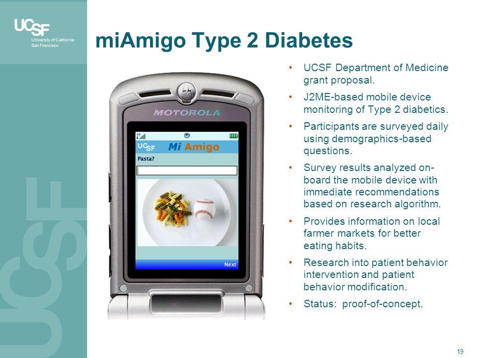 miAmigo Type 2 Diabetes 19 UCSF Department of Medicine grant proposal.