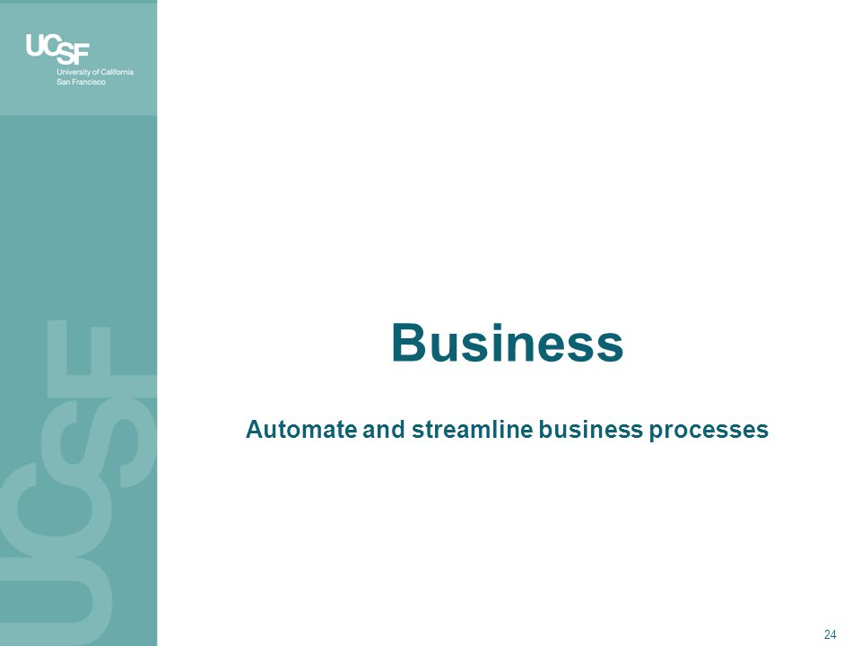 24 Business Automate and streamline business processes
