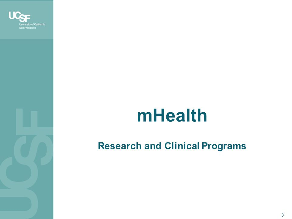 8 mHealth Research and Clinical Programs