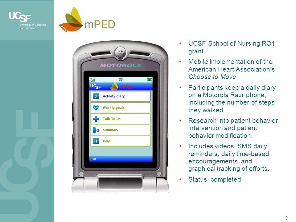 9 UCSF School of Nursing RO1 grant.